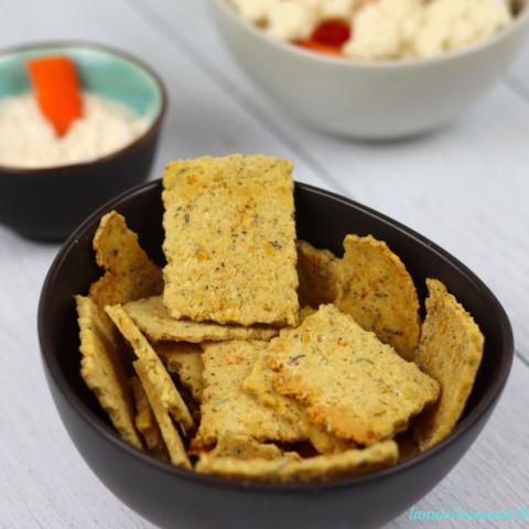 Crackers aux lentilles corail